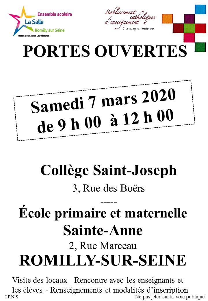 Affiches Portes ouvertes mars 2020